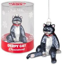 Derpy Cat Glass Ornament [New Other] Ornament