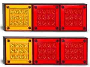 2x LED Autolamps 280ARRM GENUINE Mini Jumbo Tail Lights w/Stop, Tail & Indicator