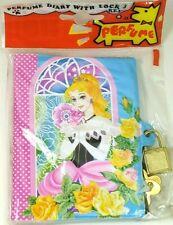 Vintage 1990s Perfume Diary w/ Lock & Key, Journal Taiwan Hueylu Design #5 Carny
