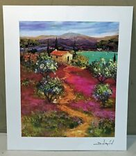 Arrivee au Lac by Duavi Seriolithograph on Archival Paper Signed with COA