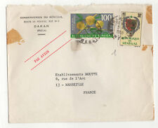 République du Sénégal 2 timbres lettre 1968 conserveries du Sénégal  /L41
