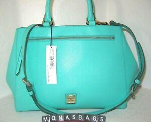 Dooney & Bourke Large Mimi Zip Leather Satchel Bag With Crossbody Strap NWT $268