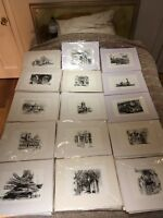 A collection of limited edition London prints some signed etchings
