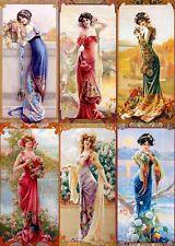 Chart Needlework Embroidery DIY Counted Cross Stitch Pattern - Six Ladies