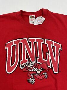 UNLV Runnin' Rebels Nevada Las Vegas T Shirt Men's L Older Style
