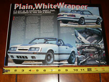 1986 FORD MUSTANG GT CONVERTIBLE PAXTON SUPERCHARGED - ORIGINAL 2001 ARTICLE