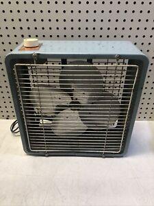Zero 12496 Box Fan 3 Speed VINTAGE WORKING APPLIANCE DECOR
