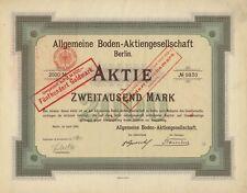 Allgemeine Boden-AG, BERLIN – Aktie über 2.000 Mark, vom April 1906