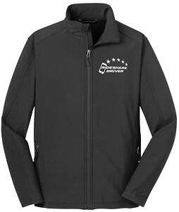 5-Star Rideshare Driver HQ jacket, REFLECTIVE logo soft shell