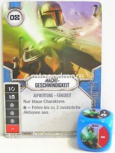 Star Wars Destiny - 1x #055 Machtgeschwindigkeit + Würfel - B - Geist der Rebell