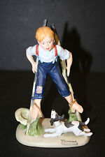 "The 12 Norman Rockwell Porcelain Figurines ""Boy on Stilts"""