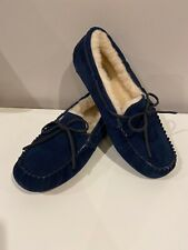 UGG Men's Olsen Suede Shearling Slippers Navy Blue Size 9 New No Box