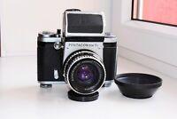 PENTACON SIX TL SLR film camera MEDIUM Format w/s Carl Zeiss Jena BIOMETAR EXC