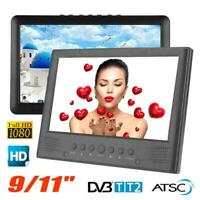 "9-11"" HD 1080P Portable Digital TV Player DVB-T/T2 ATSC Mini Television HDMI USB"