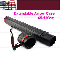 Extendable Telescopic Archery Arrow Back Shoulder Quiver Holder Tube + Strap