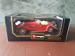Burago Die Cast Mercedes Benz 500K Roadster - Red 1936 1:20 Scale - Boxed.