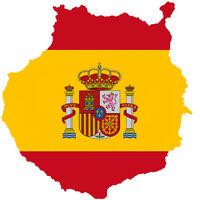 "Auto Aufkleber ""Gran Canaria"" Spanien Spain 11cm Decal Sticker! konturgeschnitt."