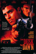 FROM DUSK TILL DAWN 24x36 poster QUENTIN TARANTINO GEORGE CLOONEY MOVIE CULT NEW