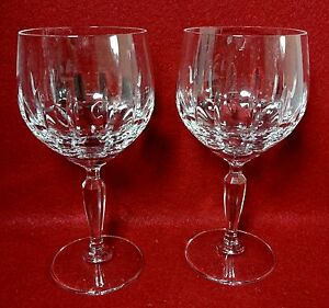 "CARICO crystal RENAISSANCE pattern Water Goblet - 7-1/8"" Set of TWO (2)"