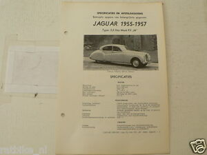 J04--JAGUAR 3,5 LITER MARK VII M 1955-1957 ,TECHNICAL INFO CAR VINTAGE OLDTIMER