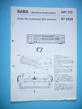 Service-Manual-Anleitung für Saba Ultra HiFi professional 9250 ,ORIGINAL!