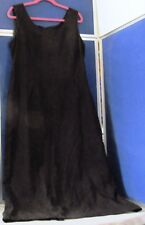EUC Fabulous LONG DRESS by K STUDIO COLLECTION Black POLY Ultrasuede DRESS Sz 16