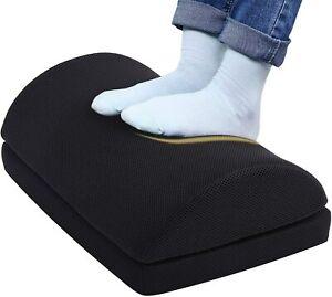 Ergonomic Memory Foam Foot Rest Under Desk Home Office Cushion Pillow Black
