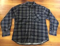 Highland Outfitters Plaid Flannel Cotton Long Sleeve Shirt - Men's Size Large