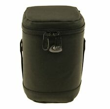 Ex-Pro Black Soft DSLR Camera Lens Bag Pouch Case Shock Protector 9 x 15cm