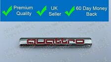 Quattro Chrome Red Badge Emblem Decal Sticker Rear Boot Lid Side Fender Wing 21
