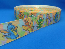 1 metre length of Dragons design Cake/Hair/craft ribbon @ MrsMario's