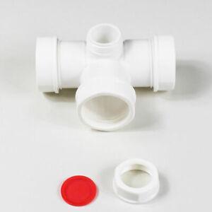 Ablaufgarnitur T-stück zwischenstück ablaufverbindung übergangsstück Kunststoff