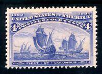 USAstamps Unused VF US 1893 Columbian Expo Fleet of Columbus Scott 233 OG MNH