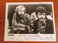 Vtg Glossy Press Photo Director Jim Henson Producer George Lucas Labyrinth 1986