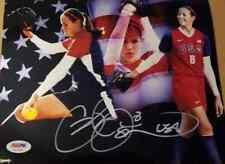 USA Olympic Softball Star CAT OSTERMAN Signed 8X10 METALLIC Photo PSA/DNA
