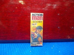 AN EMPTY SOLDIER ACTION MAN BOX FOR A DOLL HOUSE