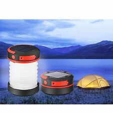 Lampada Campeggio Batteria Solare Pannello USB Pieghevole power bank portatile