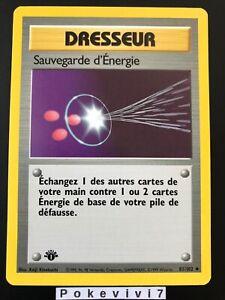 Carte Pokemon SAUVEGARDE D'ENERGIE 81/102 Set de Base Wizard Edition 1 FR NEUF