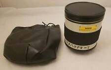 Bower 500mm f/6.3 DG Telephoto Mirror Lens MINT 6.3 500 Telephoto Large Zoom