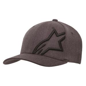 Alpinestars Corp Shift 2 Flex Fit Casual Baseball Hat Cap Grey Heather Black
