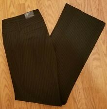 Express Editor Womens Pants Size 4R Black/White Stripe Flare Leg