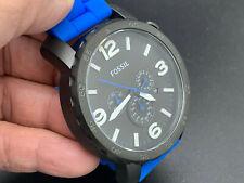 FOSSIL JR1426 CHRONOGRAPH 24 HOURS DUAL TIME DATE W.R. 5 ATM QUARTZ MEN'S WATCH