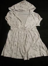 """""""LAYERED WITH LOVE"""" WHITE MATERNITY SHIRT WITH SILVER FLEUR DE LYE ON IT-SIZE M"""