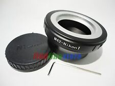 new M42 Lens to Nikon 1 N1 J1 J2 J3 J4 S1 V1 V2 V3 AW1 adapter adjustable + CAP