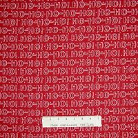 Christmas Fabric - Winter Essentials IV Red White Ho Ho Ho - Studio E YARD