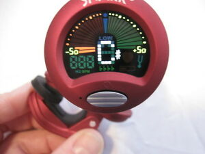 New Snark Clip On Chromatic Tuner with Metronome-All Instruments-w/Battery-ST-2