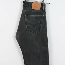 Levis 505 Straight Fit Jeans in Faded Black Red Tab W34 L33