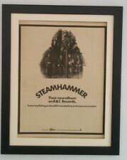 STEAMHAMMER*Album*1970*RARE*ORIGINAL*POSTER*AD*QUALITY*FRAMED*FAST WORLD SHIP