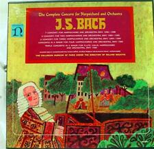 DOUATTE bach complete concerti for harpsichord & orchestra 5 LP VG+ HE 3001