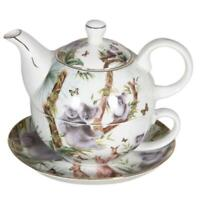 Australian Wildlife Tea For One Teapot w Cup in One set Bone China Xmas Gift